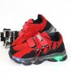 Кроссовки для мальчиков Sport LB019-12-LED 21 12.5см красный - изображение 1