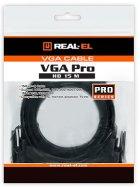 Кабель Real-El VGA HD15M-VGA HD15M Pro 1.8 м Black (EL123500043) - зображення 3
