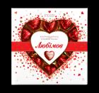 Упаковка конфет Любимов Сердечки в молочном шоколаде 125 г х 14 шт (4820005195152) - изображение 2