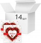 Упаковка конфет Любимов Сердечки в молочном шоколаде 125 г х 14 шт (4820005195152) - изображение 1