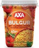 Упаковка каші булгур AXA з овочами, копченими томатами та зеленню 45 г х 8 шт. (4820008129901) - зображення 2