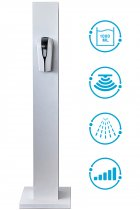 """1000 ML Мобільна стійка для дезінфекції рук """"Active clean""""- підлоговий дозатор для антисептика (ACST1S) - зображення 1"""
