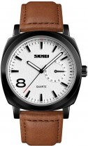 Мужские часы Skmei 1466BOXLBKBN Black/Brown Leather Belt BOX - изображение 1