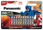 Батарейки Panasonic Pro Power щелочные AAA блистер, 10 шт Power Rangers (LR03XEG/10B4FPR) - изображение 1