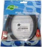 Кабель Atcom HDMI — HDMI 4K v.2.0 5 м Red/Gold (24945) - зображення 2