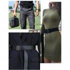 """Тактичний нейлоновий армійський ремінь Tactical Belt з пряжкою """"COBRA"""" / 125 см / Black - зображення 8"""