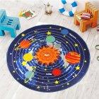 Нейлоновий килим на гумовій основі для дитячої кімнати круглий Berni Зоряна система 100х100 см Синій (45982) - зображення 1