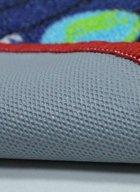 Нейлоновий килим на гумовій основі для дитячої кімнати круглий Berni Зоряна система 100х100 см Синій (45982) - зображення 2
