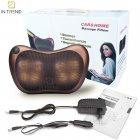 Покращена масажна роликовий подушка для масажу спини, шиї і всього тіла Original Pillow 2PLUS з функціями підігріву від мережі – Інфрачервоний універсальний домашній масажер, BROWN - зображення 15