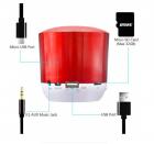 Бездротова колонка HOPESTAR H9 з мікрофоном + Bluetooth 3.0 вбудованим радіо 3 Вт Червона (11339) - зображення 2