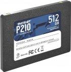 """Накопичувач SSD 512GB Patriot P210 2.5"""" SATAIII TLC (P210S512G25) - зображення 3"""