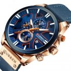 Наручний годинник AlexMosh чоловічі Curren Blue-Cuprum (1025) - зображення 1
