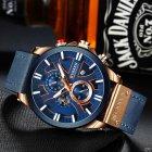 Наручний годинник AlexMosh чоловічі Curren Blue-Cuprum (1025) - зображення 3