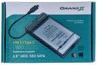 "Внешний карман Grand-X для HDD 2.5"" USB 3.1 Type-C (HDE31) - изображение 5"