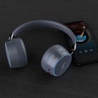 Стерео Наушники Беспроводные Bluetooth Gorsun GS-E95 Pro, microSD Mp3, расширенный басовый диапазон, с подсветкой логотипа Серые - изображение 6