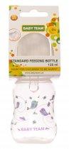 Бутылочка для кормления с талией и силиконовой соской Baby Team 125 мл Белая (1111_белый) - изображение 2