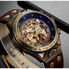 Часы мужские Winner Status механические с автоподзаводом и металлическим браслетом Коричневый - изображение 3