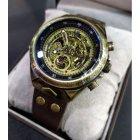 Часы мужские Winner Status механические с автоподзаводом и металлическим браслетом Коричневый - изображение 9