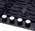 Варильна поверхня газова WEILOR GM 624 BL - зображення 5