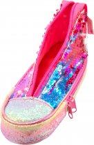 Пенал в виде кеда Cool For School с пайетками 2 отделения Розовый (5987-pink) - изображение 3