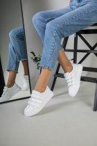 Кеды женские замшевые на липучках LuxuryShoes 7355/38 Белые - изображение 4