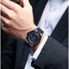 Годинники чоловічі Carnival Special механічні з автопідзаводом і металевим браслетом Чорний/Синій - зображення 5
