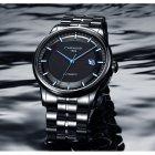 Годинники чоловічі Carnival Special механічні з автопідзаводом і металевим браслетом Чорний/Синій - зображення 6