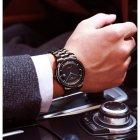 Годинники чоловічі Carnival Special механічні з автопідзаводом і металевим браслетом Чорний/Синій - зображення 7