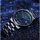 Годинники чоловічі Carnival Special механічні з автопідзаводом і металевим браслетом Чорний/Синій - зображення 10
