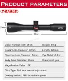 Оптичний приціл T-EAGLE SR 8х44 SF (SR8X44 SF) - зображення 3