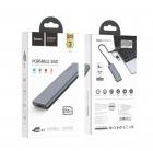 Зовнішній накопичувач SSD Type-C HOCO UD7 256GB Grey - зображення 4
