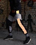 Спортивні штани Over Drive Split чорно-білі з рефлективом XL - зображення 3
