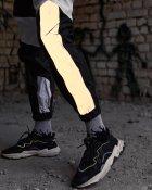 Спортивные штаны Over Drive Split черно-белые с рефлективом XS - изображение 4