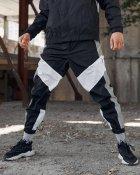 Спортивные штаны Over Drive Split черно-белые с рефлективом XS - изображение 5