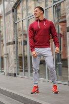 Спортивный костюм мужской WB худи и штаны размер XXL бордово-серый - изображение 1