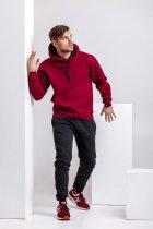 Спортивный костюм для мужчин зимний WB толстовка и штаны классика размер XXL бордово-черный - изображение 1