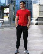 Чоловічий комплект футболка і спортивні штани WB розмір L червоно-чорний - зображення 1
