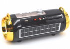 Портативная аккумуляторная Bluetooth колонка Golon RX BT180S с фонарем, солнечной панелью Черно-золотой (11599) - изображение 2