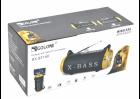 Портативная аккумуляторная Bluetooth колонка Golon RX BT180S с фонарем, солнечной панелью Черно-золотой (11599) - изображение 4