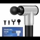 Ручной электрический массажер для тела, спины и шеи Fascial Gun Pro с аккумулятором и комплектом насадок Серый - изображение 3