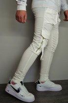 Мужские спортивные штаны hype drive white размер L J-059 - изображение 4