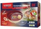 Сковорода алюминиевая Vitesse с крышкой 28см салатовая (VS-2262) - изображение 2
