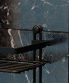 Полка TEKNO-TEL ES065H 3-ярусная c крючками 25x12x46 см чёрная матовая - изображение 3