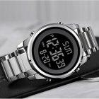 Годинники чоловічі Skmei Impact з металевим браслетом і будильником + підсвітка Сріблястий - зображення 4