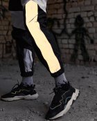 Спортивные штаны Пушка Огонь Split черно-белые с рефлективом XS - изображение 4