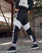 Спортивные штаны Пушка Огонь Split черно-белые с рефлективом XS - изображение 6
