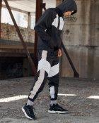 Спортивные штаны Пушка Огонь Split черно-белые с рефлективом XL - изображение 9