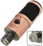 Студійний мікрофон Music D. J. M900U USB зі стійкою і поп-фільтром Bronze - зображення 5