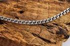 Мужской серебряный браслет Meridian 925 пробы Плоский запилянный бисмарк в чернении 21 размер 24122/121 - изображение 1