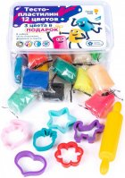 Набор для детской лепки Genio Kids Тесто-пластилин 12 + 3 цвета (TA1068S) (4814723007743) - изображение 2